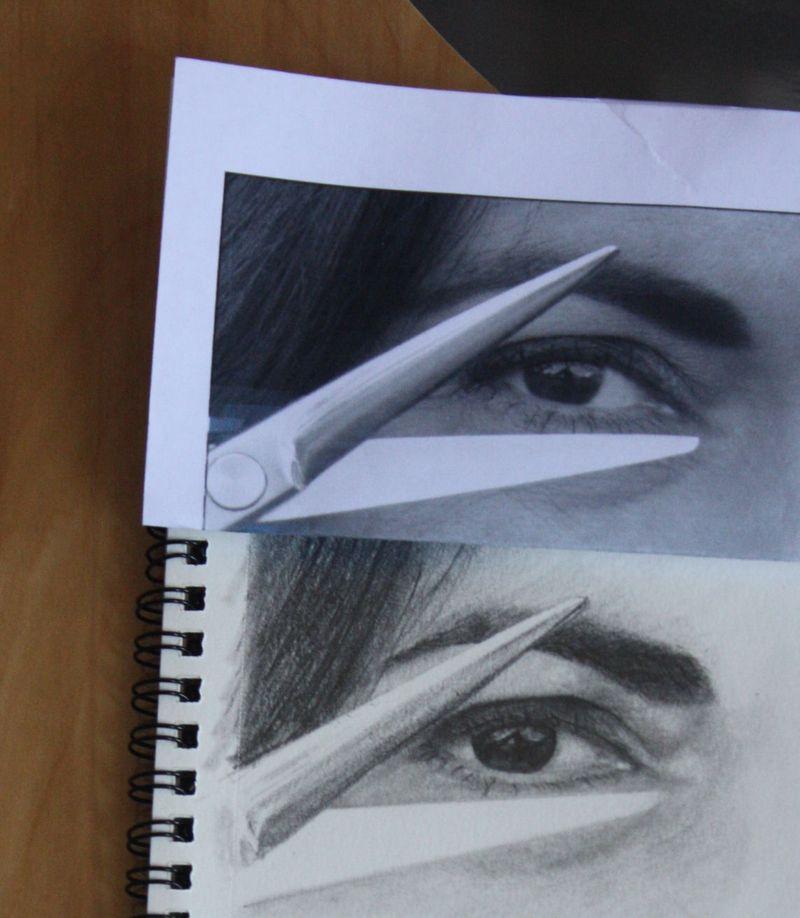 Sketch of my hairdresser's eye