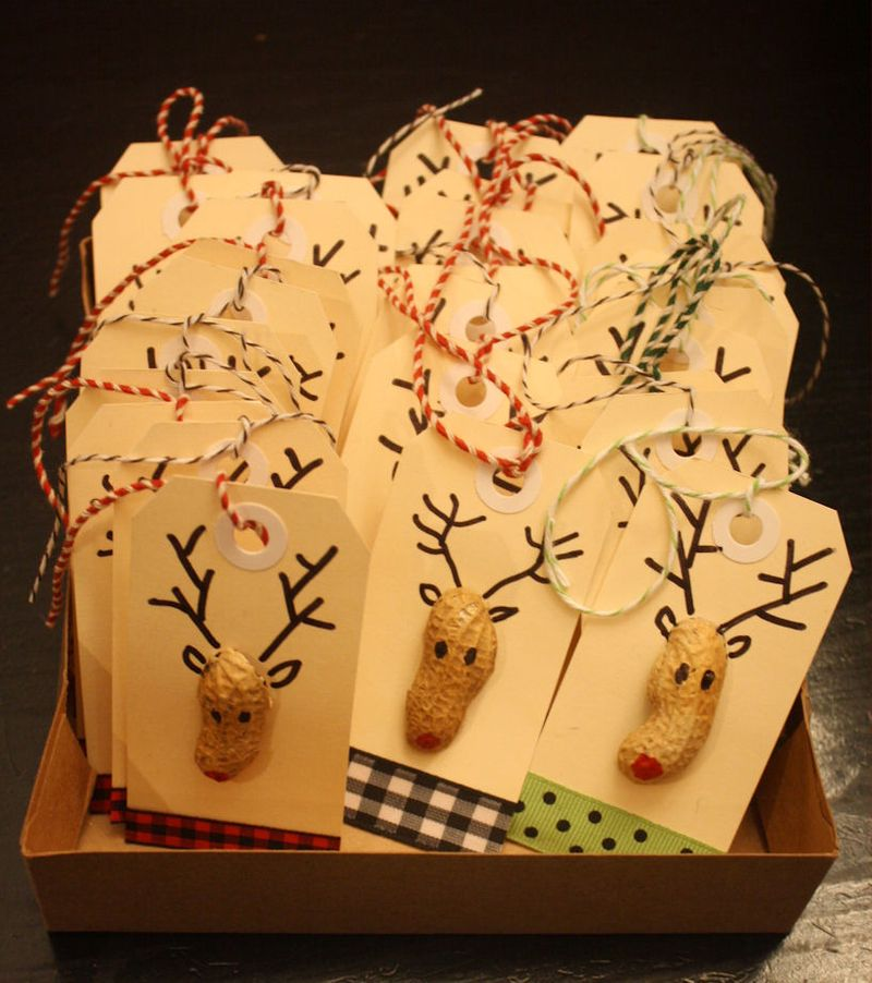DIY Reindeer Gift Tags in a Box