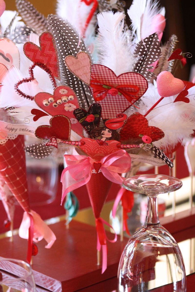Valentine Tablescape Centerpiece