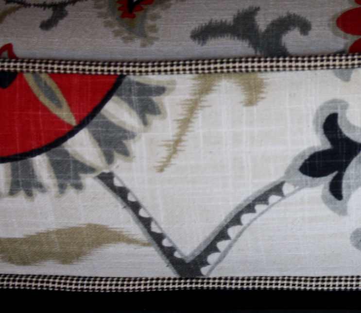 Mid century modern chair cushion detail
