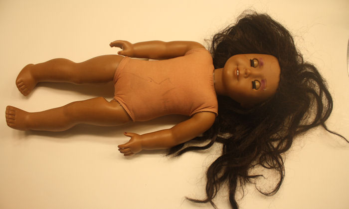AG Doll Resrtoration Before - Full Body