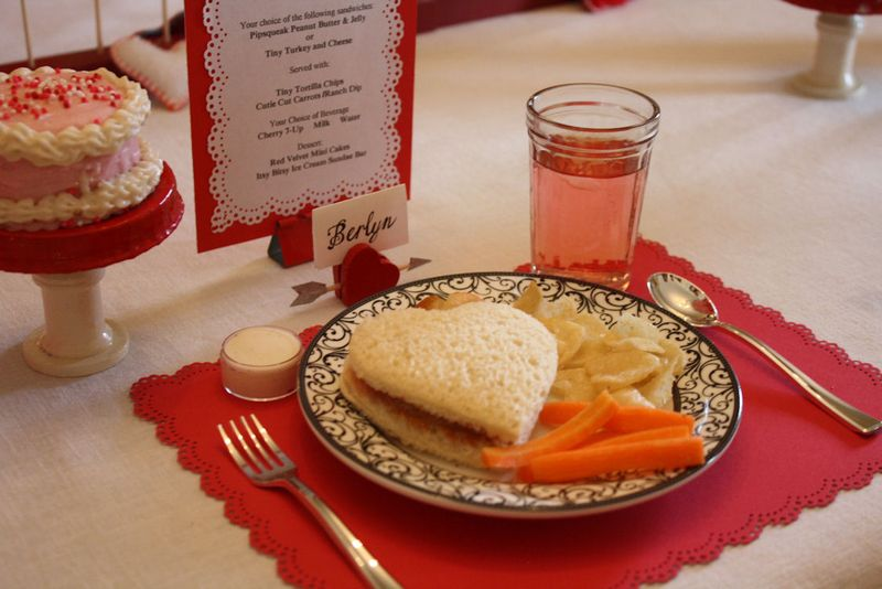 American Girl Valentine Party - Lunch