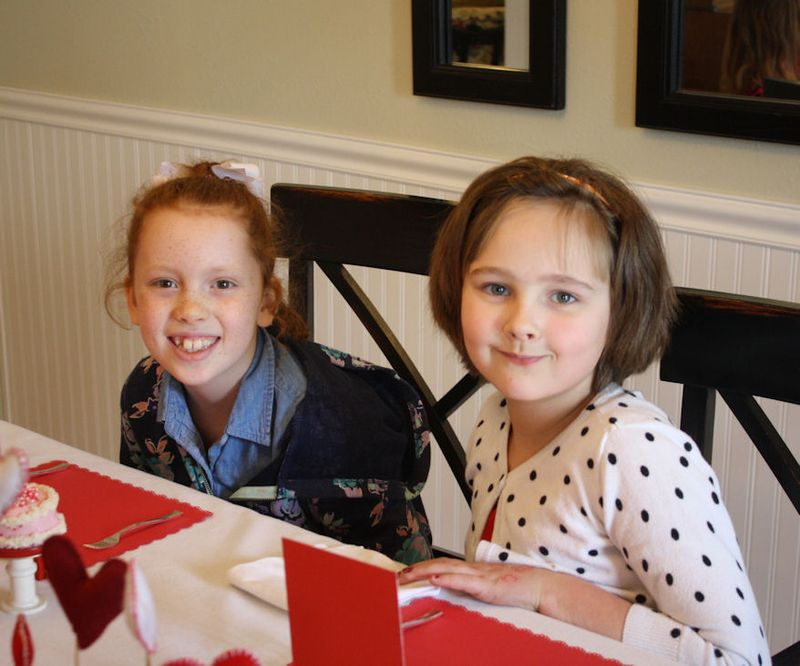 American Girl Valentine Party -Waiting for lunch