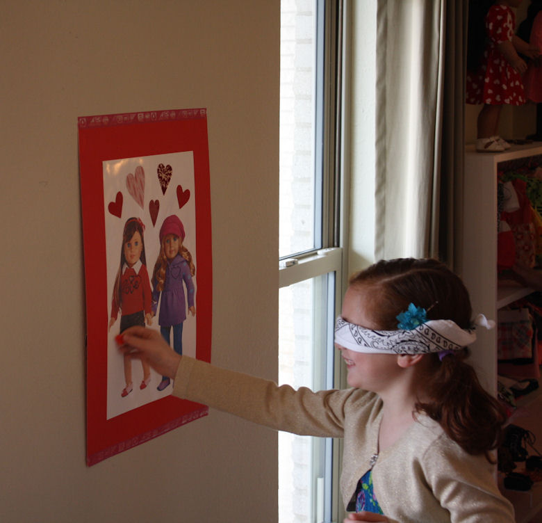 American Girl Valentine Party - Pin the Heart on the American Girl 1