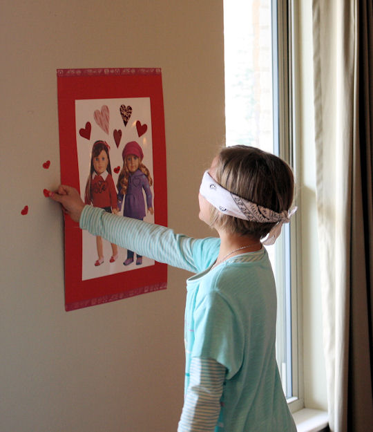 American Girl Valentine Party - Pin the Heart on the American Girl 5
