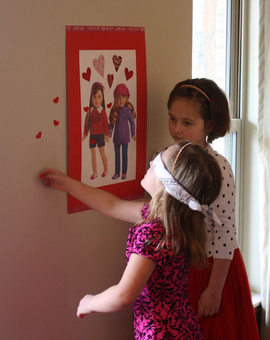 American Girl Valentine Party - Pin the Heart on the American Girl 7
