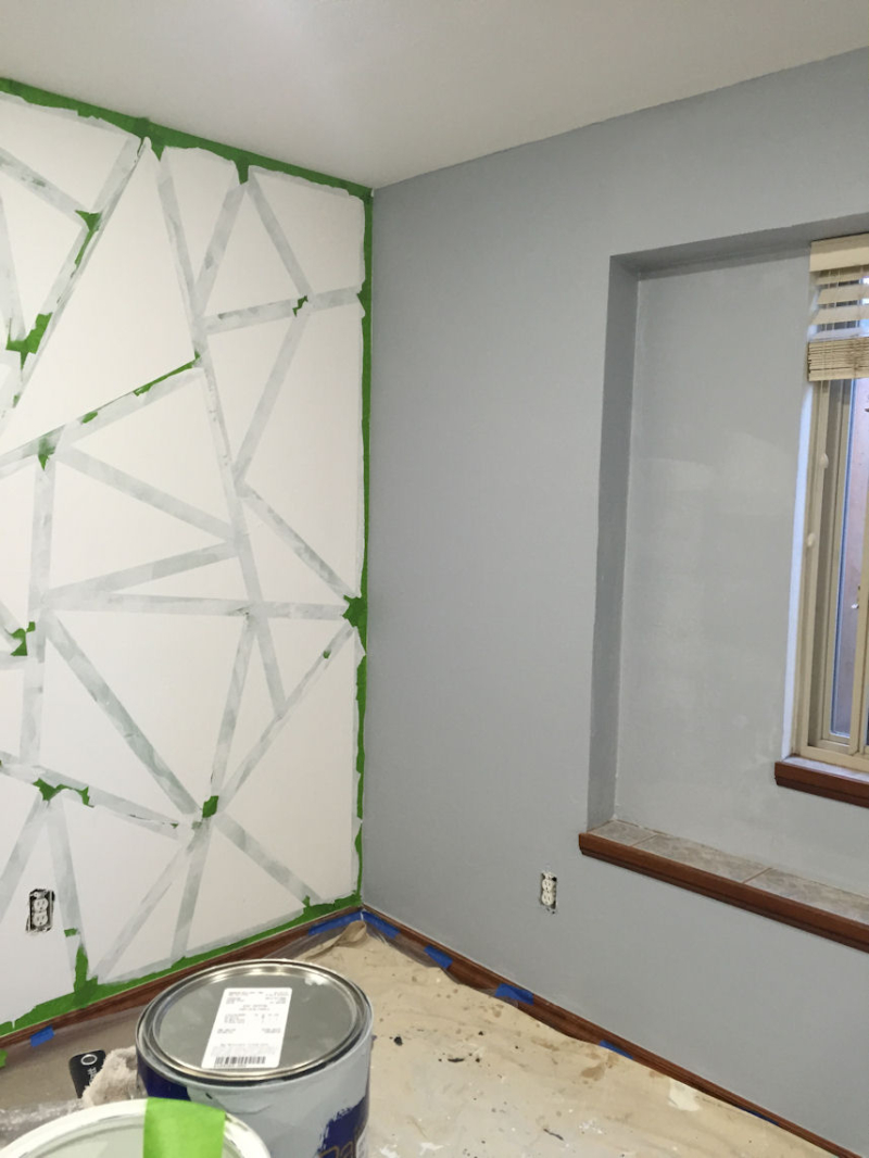 Graphic Wall Paint -Sealing the tape edges