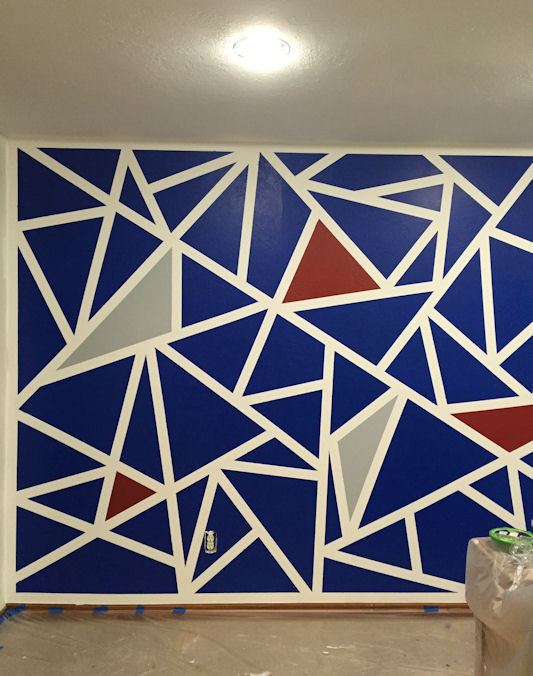 Graphic Wall Paint - Triangles