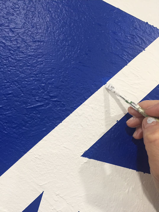 Graphic Wall Paint - Tediuous Touch Up