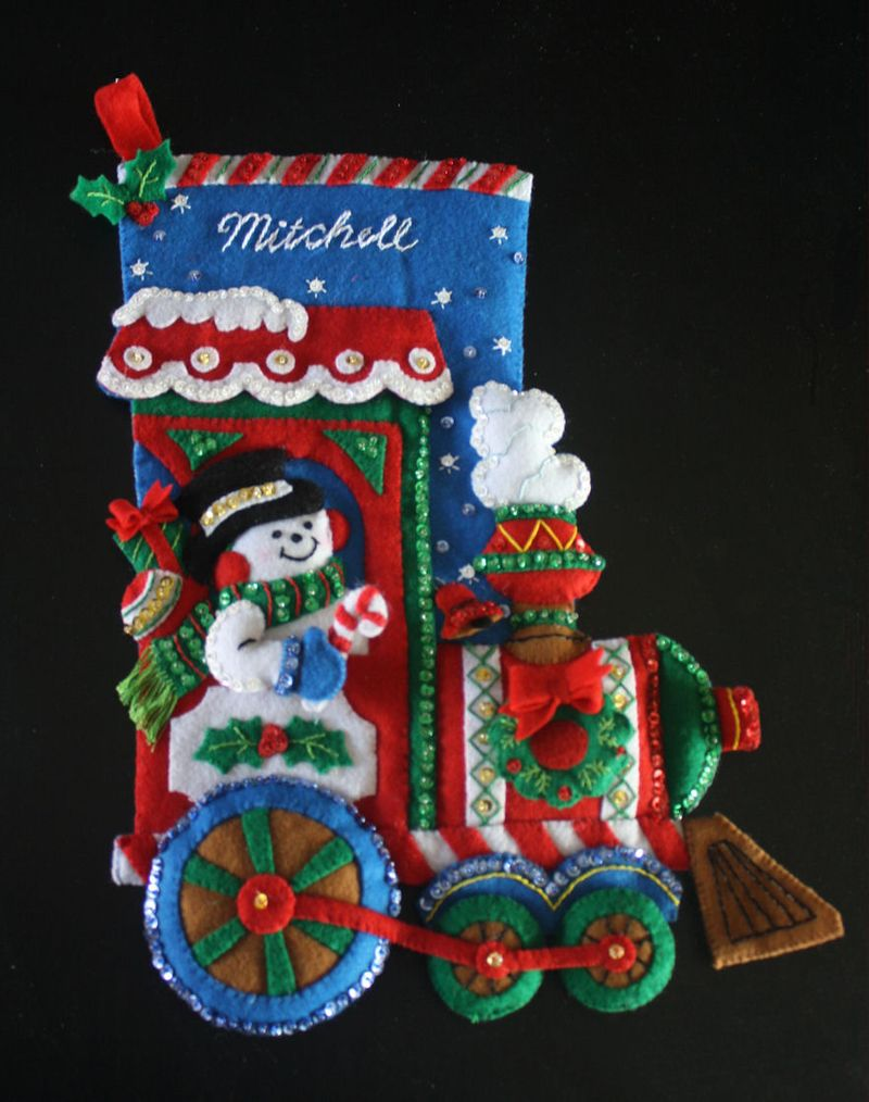 Felt Christmas stocking from kit