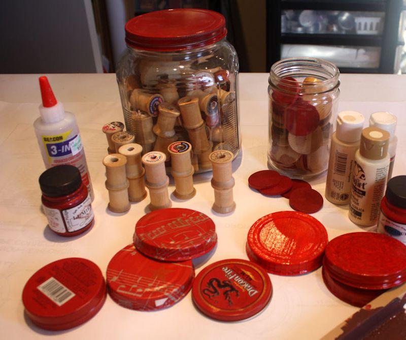 DIY Cupcake stands Workdesk