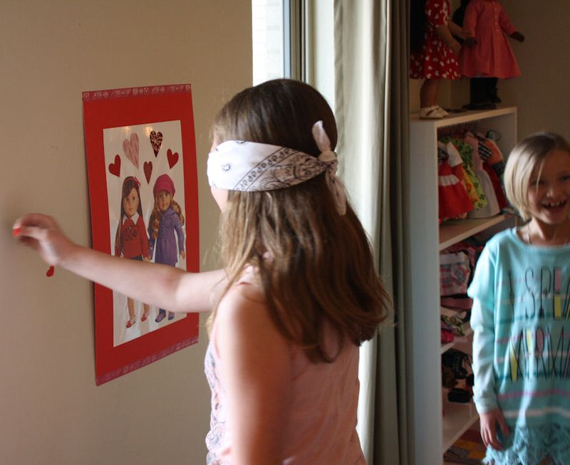 American Girl Valentine Party - Pin the Heart on the American Girl 3