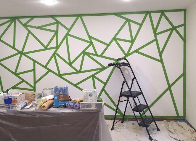 Graphic Wall Paint - Taping Off