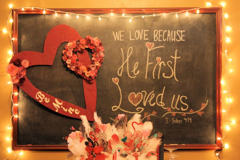 Valentine Chalkboard and Photo Prop