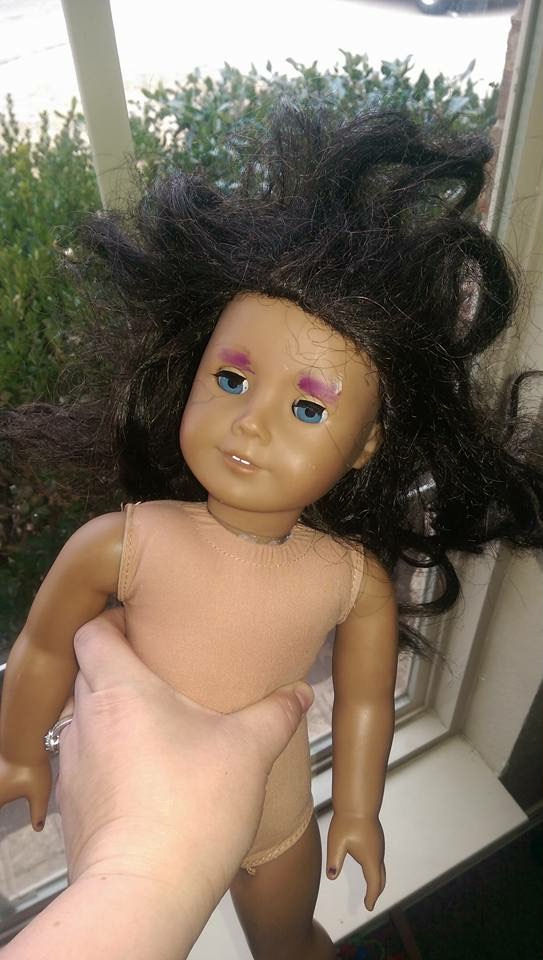 AG Doll Restoration - Before Foster