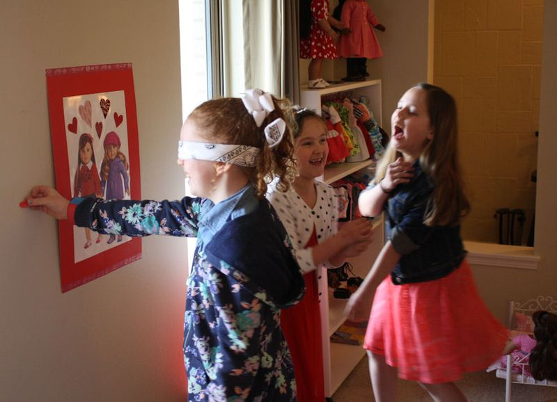 American Girl Valentine Party - Pin the Heart on the American Girl 2