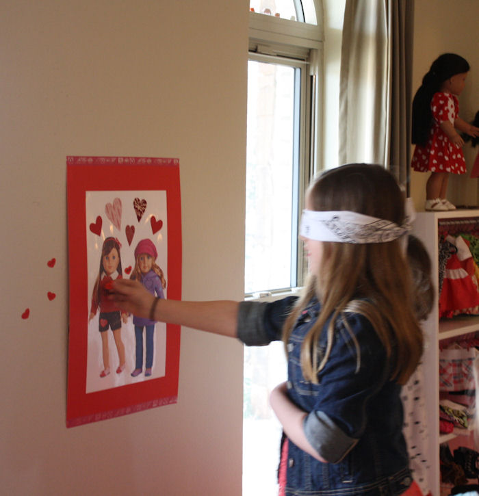 American Girl Valentine Party - Pin the Heart on the American Girl 6