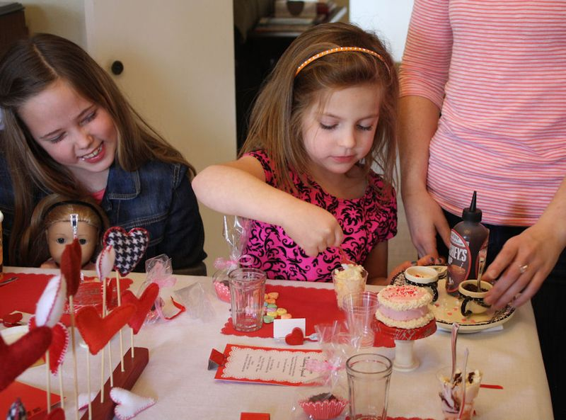 American Girl Valentine Party - Mini Sundaes 3jpg