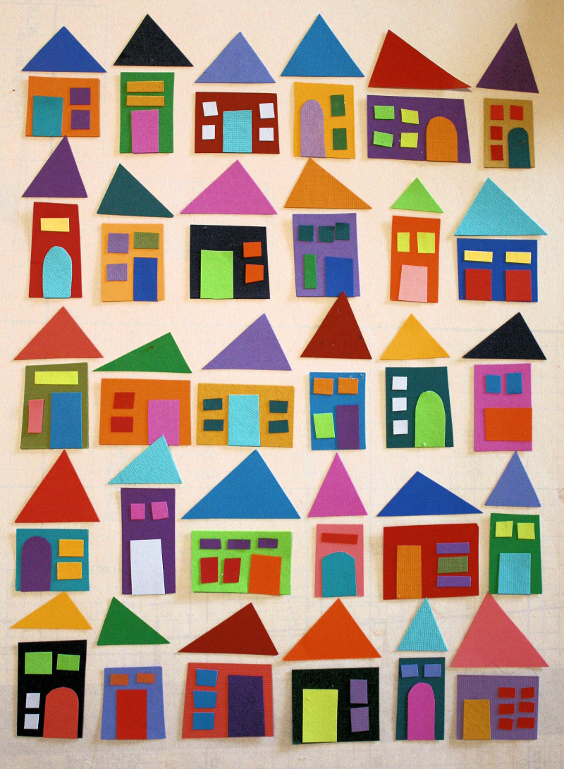 Colorful Paper Houses